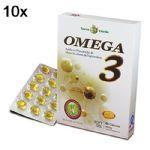 Kit 10X Omega 3 - 60 Cápsulas 500mg Soft Gel - Terra Verde no Atacado