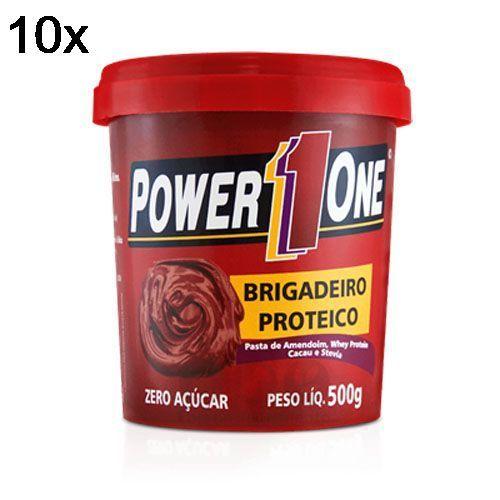 Kit 10X Pasta de Brigadeiro Proteico - 500g - Power One no Atacado