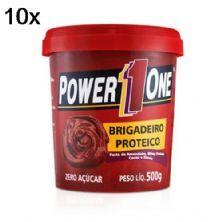 Kit 10X Pasta de Brigadeiro Proteico - 500g - Power One