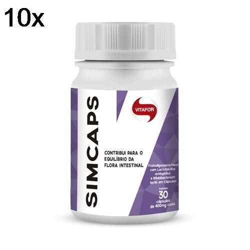 Kit 10X Simcaps - 30 Cápsulas - Vitafor no Atacado