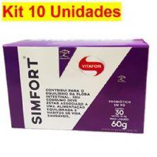 Kit 10X Simfort - 30 Sachês 2g - Vitafor