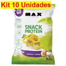 Kit 10X Snack Protein - 50g Cebola Slasa - Max Titanium