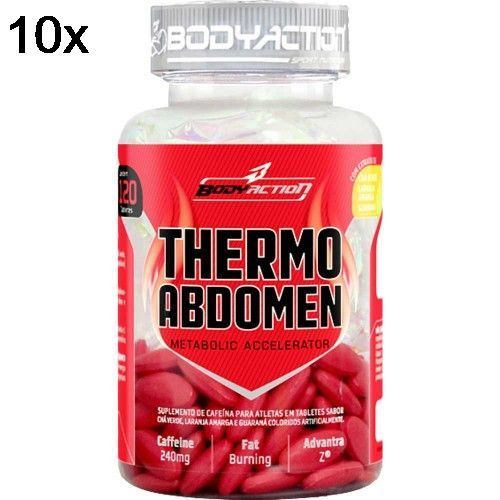 Kit 10X Thermo Abdomen - 120 Tabletes - BodyAction no Atacado