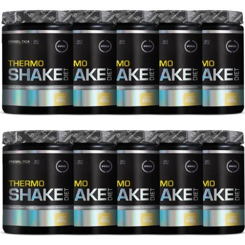 Kit 10X Thermo Shake Diet -  400g Baunilha - Probiótica no Atacado