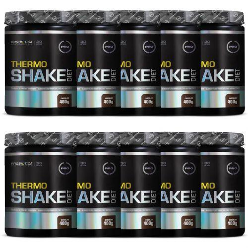 Kit 10X Thermo Shake Diet - 400g Chocolate - Probiótica no Atacado