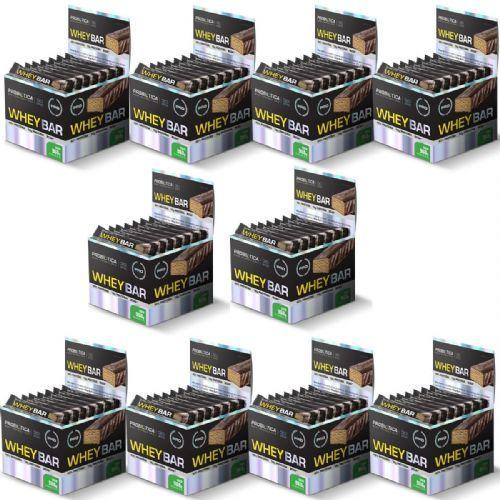 Kit 10X Whey Bar High Protein - 24 Unidades 40g Coco - Probiótica no Atacado