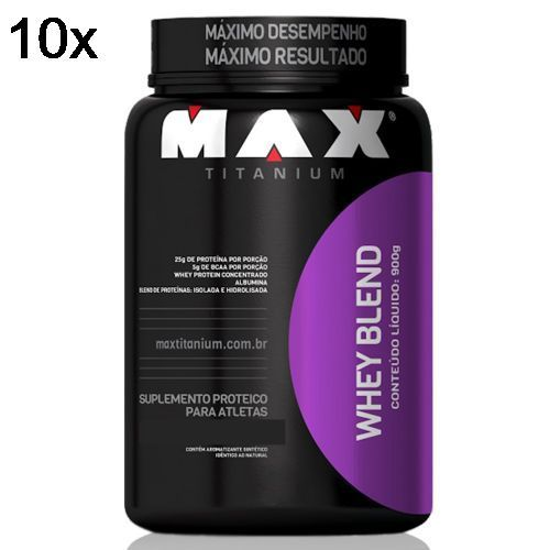 Kit 10X Whey Blend - 900g Baunilha - Max Titanium no Atacado