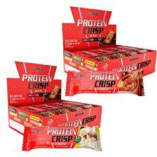 Kit 2 Protein Crisp Bar - 12 Unidades 45g Leite Nino + 12 Unidades 45g Churros - IntegralMédica
