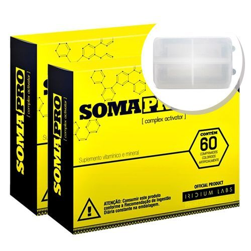 Kit 2 Somapro - 60 Cápsulas + Porta cápsulas - Iridium Labs no Atacado