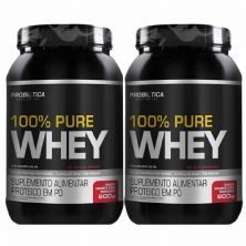 Kit 2X 100% Pure Whey - 900g Iogurte com Morango - Probiotica