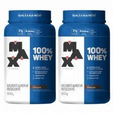 Kit 2X 100% Whey - 900g Chocolate - Max Titanium