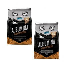 Kit 2X Albumina - 500g Cappuccino - Proteína Pura
