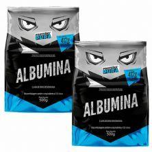Kit 2X Albumina - 500g Sem Sabor  - Proteína Pura
