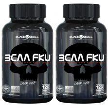 Kit 2X Bcaa FKU - 120 Tablets - Black skull