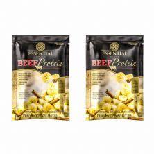 Kit 2X Beef Protein - 1 Sachê 30g Banana Com Canela - Essential Nutrition