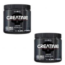 Kit 2X Creatine Pure Monohydrate - 150g - Black Skull