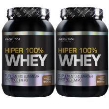 Kit 2X Hiper 100% Whey - 900g Cookies & Cream - Probiotica