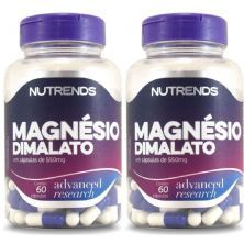 Kit 2X Magnésio Dimalato 550mg - 60 Cápsulas - Nutrends