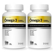 Kit 2X Ômega 3 1000mg - 120 Cápsulas - Inove Nutrition