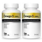 Kit 2X Ômega 3 1000mg - 120 Cápsulas - Inove Nutrition