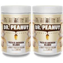 Kit 2X Pasta de Amendoim - 1005g Beijinho com Whey Isolado - Dr. Peanut