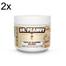 Kit 2X Pasta de Amendoim - 500g Beijinho com Whey Isolado - Dr. Peanut