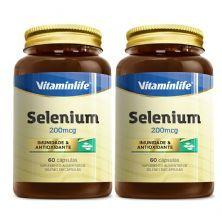 Kit 2X Selenium - 60 Cápsulas - Vitaminlife