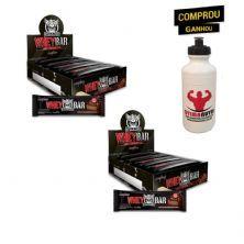 Kit 2x Whey Bar Darkness - 8 Unidades 90g Chocolate Amargo/Castanha - IntegralMédica
