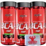 Kit 3 - Amino BCAA TOP 4:1:1 - 120 Caps + Porta Cápsulas - Integralmédica