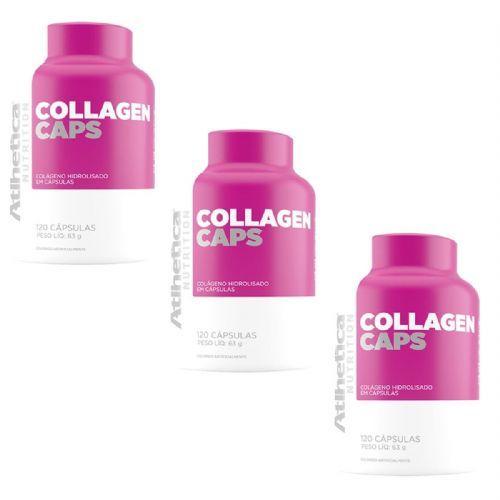kit 3 Colágeno Hidrolisado Collagen Caps Ella Series - 120 Cápsulas - Atlhetica no Atacado