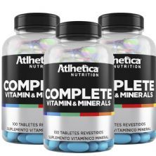 Kit 3 Complete Multi-Vit - 100 Tabletes - Atlhetica Nutrition
