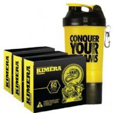 Kit 3 Kimera Thermo - 60 comprimidos + Coqueteleira 500ml c/ 3 compartimentos - Iridium Labs