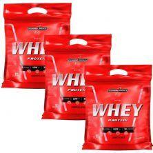 Kit 3 Nutri Whey Protein - Refil Chocolate 907g - Integralmédica