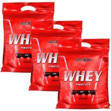 Kit 3 Nutri Whey Protein - Refil Morango 907g - Integralmédica
