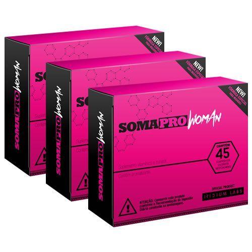Kit 3 - Somapro Woman - 45 Tabletes - Iridium Labs