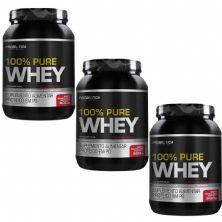 Kit 3X 100% Pure Whey - 900g Iogurte com Morango - Probiotica