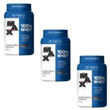 Kit 3X 100% Whey - 900g Chocolate - Max Titanium