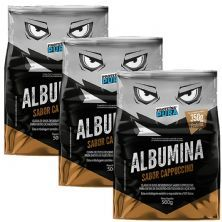 Kit 3x Albumina - 500g Cappuccino - Proteína Pura