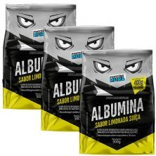 Kit 3X Albumina - 500g Limonada Suíça - Proteína Pura