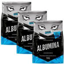 Kit 3X Albumina - 500g Sabor Natural - Proteína Pura