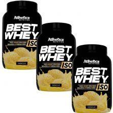 Kit 3X Best Whey Iso - 900g Maracujá - Atlhetica Nutrition