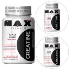 Kit 3x Creatina - 120 cápsulas - Max Titanium