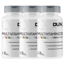Kit 3X Multivitamínico Esportivo - 90 Cápsulas Softgel - Dux Nutrition