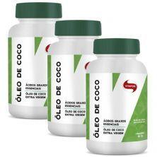 Kit 3X Óleo de Coco Extravirgem - 60 Cápsulas 1g - Vitafor