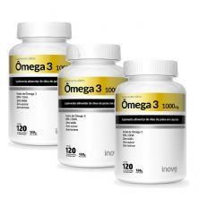 Kit 3X Ômega 3 1000mg - 120 Cápsulas - Inove Nutrition