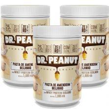 Kit 3X Pasta de Amendoim - 1005g Beijinho com Whey Isolado - Dr. Peanut