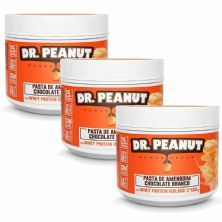 Kit 3X Pasta de Amendoim - 500g Chocolate Branco com Whey Isolado - Dr. Peanut
