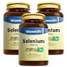 Kit 3X Selenium - 60 Cápsulas - Vitaminlife