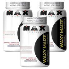 Kit 3X Waxy Maize - 1000g Natural - Max Titanium