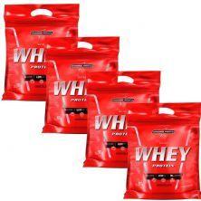 Kit 4 Nutri Whey Protein - Refil Chocolate 907g - Integralmédica